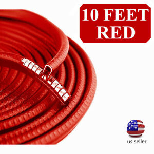 10 Feet Car Door Moulding Trim Strip Edge Lock Guard Rubber Seal Red Us