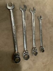 Snap On 4pc Ratcheting Wrenches Metric See Pics