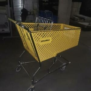 Shopping Carts Large Lot 8 Yellow Plastic Baskets Used Grocery Store Fixtures