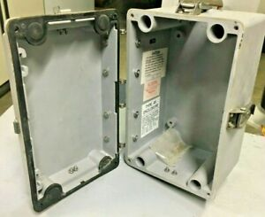 Used Hoffman E 366543 Polypro Electrical Enclosure Box 10 x6 5 x7 201151