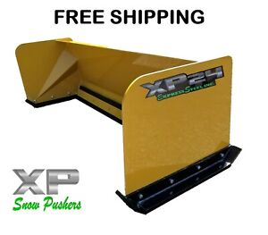 6 Xp24 Snow Pusher Box Skid Steer Bobcat Case Caterpillar Free Shipping rtr