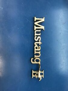 Original Vintage Metal Car Emblem Ford Mustang Ii 2