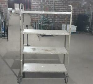 Stock Carts Used Store Equipment Tier Shelves Grocery Nursery Material Handling