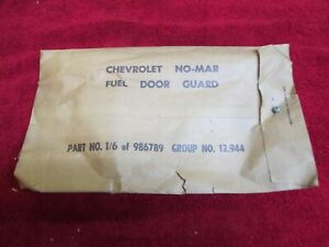 1953 1954 Chevrolet Belair Nos Gm Accessory Gas Door Guard New In Box No Repro