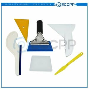 6 Sets Window Film Tint Tools Kit Wrapping Vinyl Squeegee Car Installation