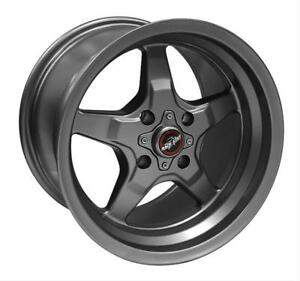 Mustang 4 Lug Race Star Wheels 91 Drag Star Metallic Gray 15x10 00 4x108 6 50bs