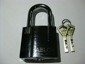 Abloy 340 Padlock W 2 Keys 50 Mm Shackle Height New High Security