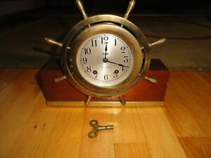 Seth Thomas Mayflower No 3 Ship S Bell Mantel Brass Clock C 1940