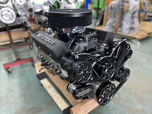 383 Stroker Crate Engine A C 5o0hp Roller Turnkey Pro Street Chevy Sbc 383 383
