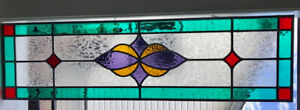 Spectacular Stained Glass Window Transom