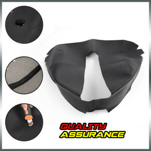 For 07 13 Chevy Tahoe Gmc Sierra Center Console Lid Armrest Cover Leather Black