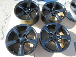 2016 To 2018 Chevrolet Camaro Oem Factory 20 Wheels Rims New Gloss Black 5x120