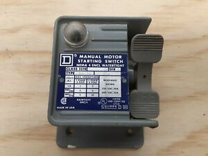 Square D Manual Motor Starting Switch Class 2510 Type Kw 1a Dv Cover Only