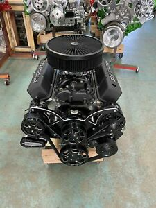 383 Stroker Crate Engine A C 515hp Roller Turnkey Pro Street Chevy Sbc 383 383