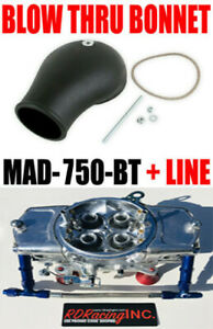 Mighty Demon Mad 750 bt Mechanical 750 Annular Blow Thru Turbo Line Kit Bonnet