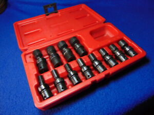 Sunex Tools 1814 12 Piece 1 4 Drive Universal Swivel Socket Set 5 15mm A Cond