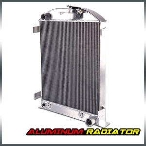 For Ford Model A Chevy V8 Upgrade 1930 1931 New Aluminum Radiator