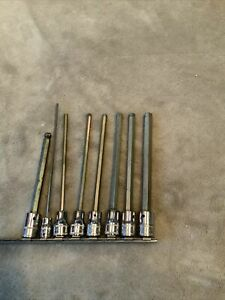 Snap On Long Hex Socket Set 1 Is Hex Ball One Is 1 4 Drive See Pics
