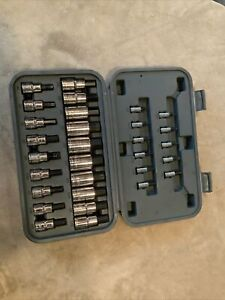 Blue Point 30pc Hex Socket Set 1 4 3 8 1 2 Drives Blphssc30