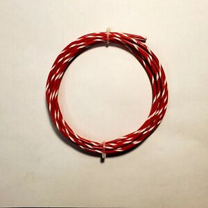 30 Awg M16878 4 Mil spec Wire Red wht ptfe Stranded Silver Plated 25 Ft