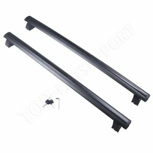 Top Luggage Cargo Cross Bars Rack 2pcs Alloy For 2017 2019 Jeep Grand Cherokee