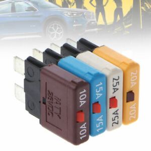 Blade Fuse Circuit Breaker Trip Manual Resettable Function Auto Marine Rally