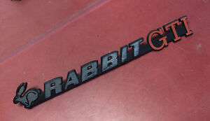 Vw Mk1 Rabbit Gti Hatch Badge Emblem German Made Mk1 Originals