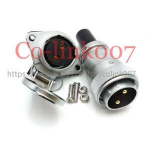 Ws28 2pin Flange Connector 50a High voltage Power Cable Auto Charger Plug Socket