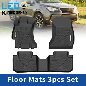 Floor Mats Liners For 2014 2018 Subaru Forester Black Front Rear Set All Weather
