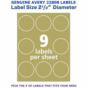 Avery Kraft Brown Inkjet Laser 2 5 Round Labels 22808 Pick Your Own Qty