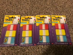 New Lot Of 4 Pack 36 Tabs Each Post it 3m 1 Durable Tabs No 686 rybt