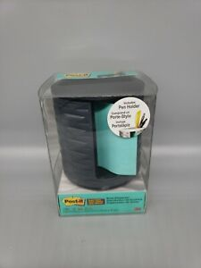 Post it Note Dispensers 3m New Sealed Pen Holder Black Grey Refillable