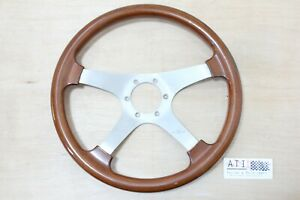 Vintage Personal Timber Wood 4 Spoke Steering Wheel 350mm Made In Italy