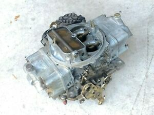 Holley Carburetor 80570 Vacuum Secondary 570 Cfm Used Electric Choke 4 Barrel