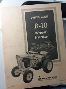Allis Chalmers B 10 Garden Tractor Original Owner Operator Manual