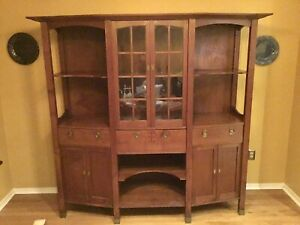 Mission Arts And Crafts China Cabinet