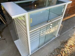 Glass Countertop Display Case Store Fixture Showcase With Locks