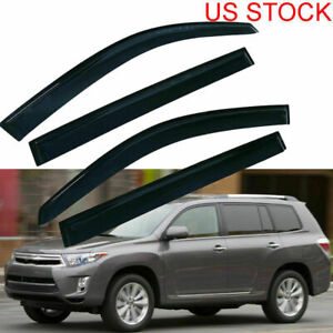 For Toyota Highlander Hybrid 2008 2012 2013 Window Visor Vent Rain Guard Shade