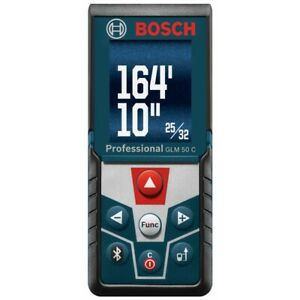 Bosch Glm 50 C Color Display 165 Ft Laser Measure With 2 X Aaa Batteries
