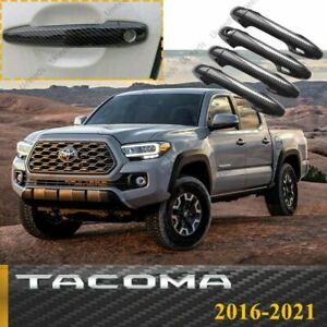 Fit For Toyota Tacoma 2016 2021 Color Door Handle Covers Smart Key Carbon Fiber