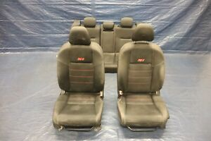 2013 Honda Civic Si Sedan K24z7 Oem Cloth Front Rear Seats wear 9405