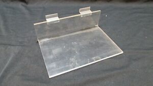 Clear Acrylic Slat Wall Shelves 6 X 9 Inch Retail Store Shop Display Lot Of 10
