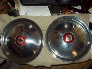 Set Of Two 1950 Chrysler New Yorker Hubcaps