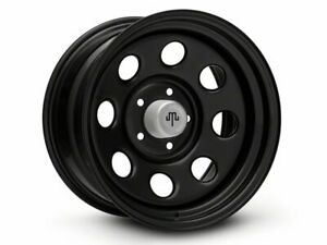 Mammoth 8 Steel Black Wheel With Polished Center Cap 17x9 20 21 Jeep Gladiator