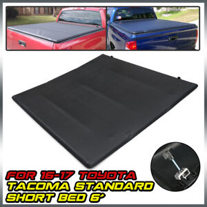 Fit For 2016 2021 Toyota Tacoma 6 Ft Bed Soft Top Folding Tri Fold Tonneau Cover