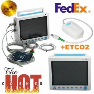 Cms8000 With Capnograph Co2 Patient Monitor Etco2 Vital Signs 7 Parameters Fedex
