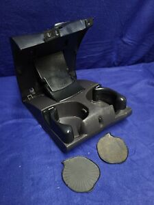 1998 01 Dodge Ram 1500 2500 3500 Agate Charcoal Folding Cup Holder W Inserts