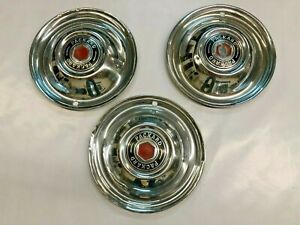 1953 Packard Hubcaps 3 May Fit 1950 1951 1952 Sku 3049