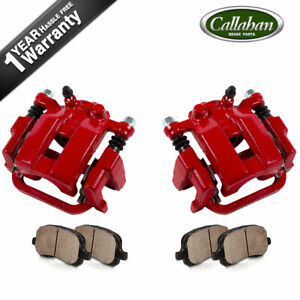 For Infiniti G35 M35 M45 Nissan 350z Rear Red Brake Calipers And Ceramic Pads
