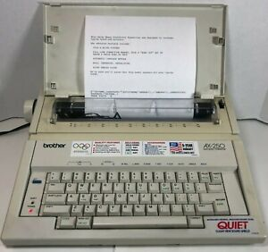 Brother Ax 250 Electronic Typewriter With Key Cover Tested